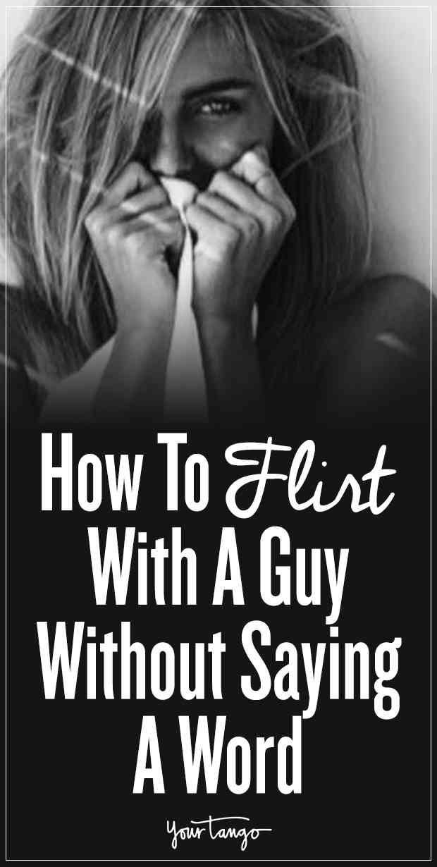 How to flirt with a guy without really flirting