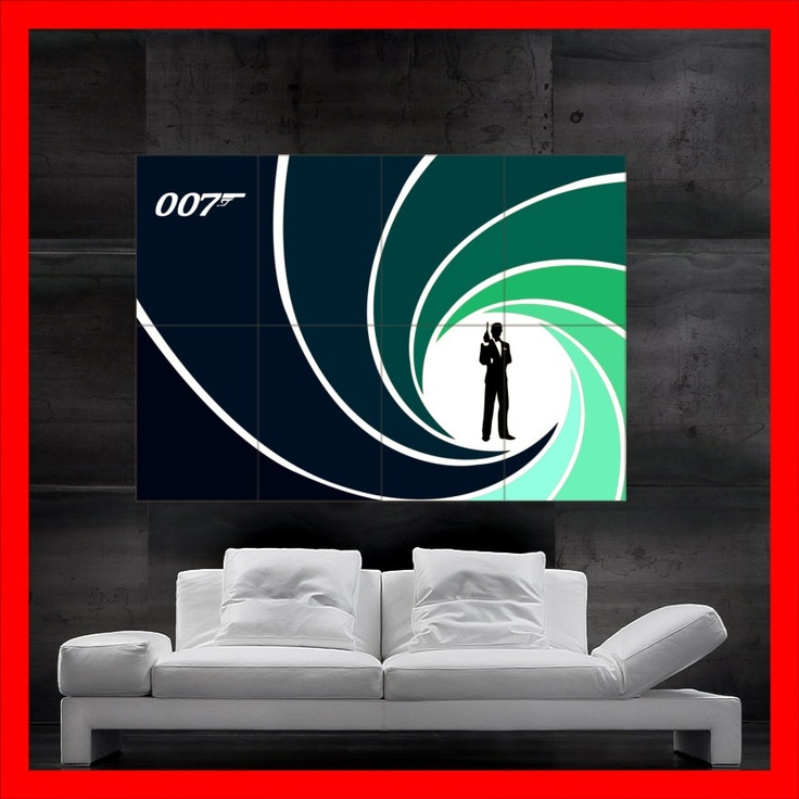 James Bond 007 Poster art print. From Etsy.com. See more fun ideas for a Casino Royale Party at www.sparklerparties.com/casino-royale