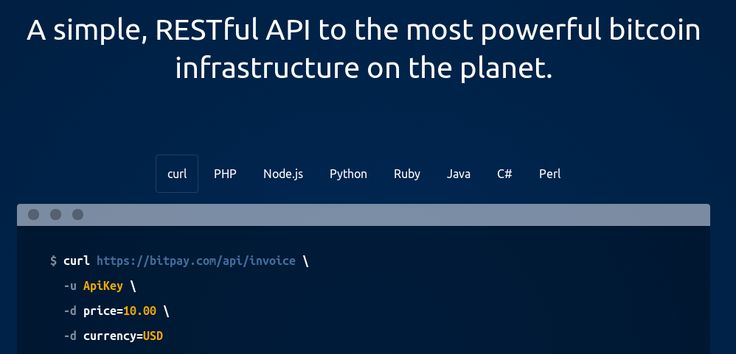 The #Bitcoin Payment Gateway API from @Bitpay