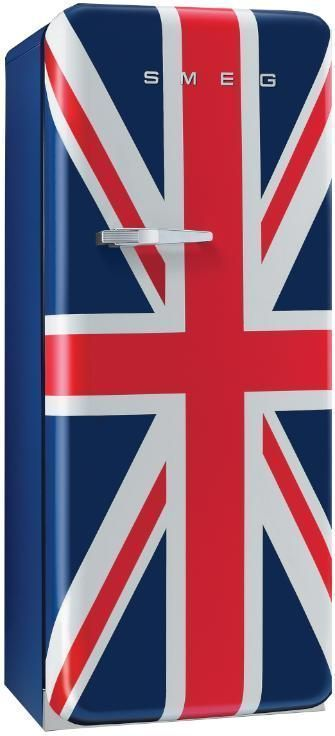 "Smeg Union Jack Fridge. Smeg is an Italian appliance company, but ironically, ""smeg"" is also the fictional profanity used in the UK sitcom ""Red Dwarf."""