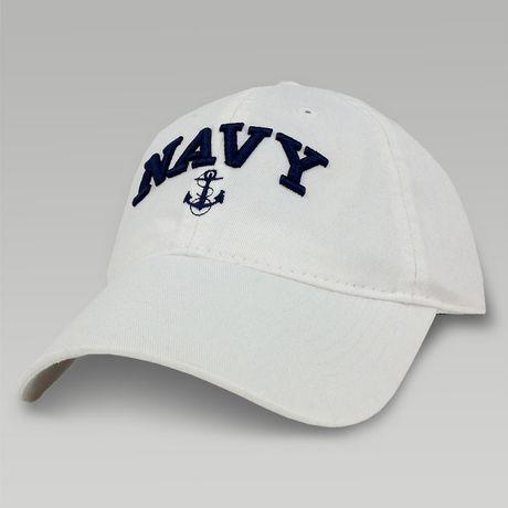 Women's Navy Anchor Arch Hat (White)