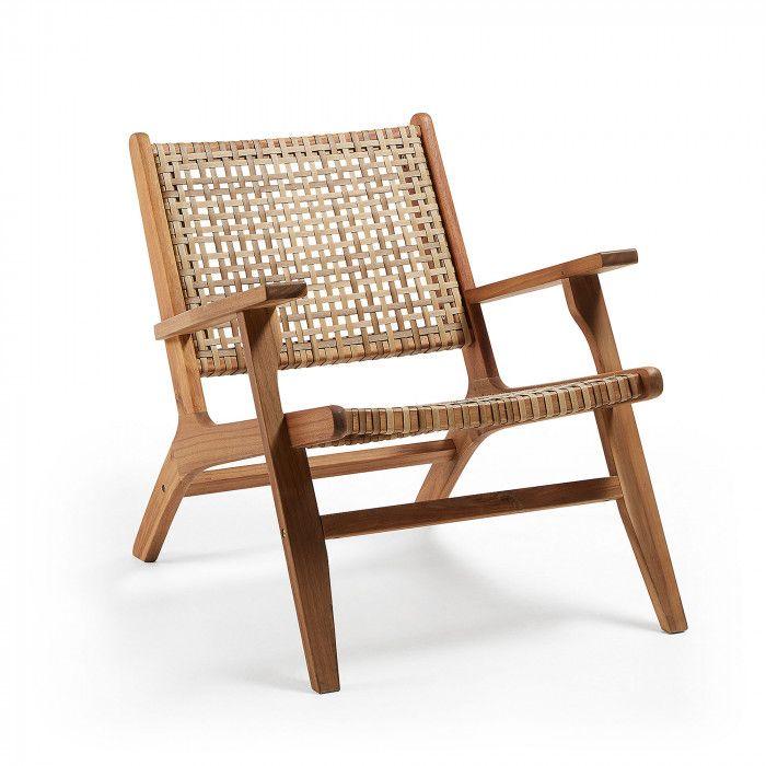 chaise bois et osier design