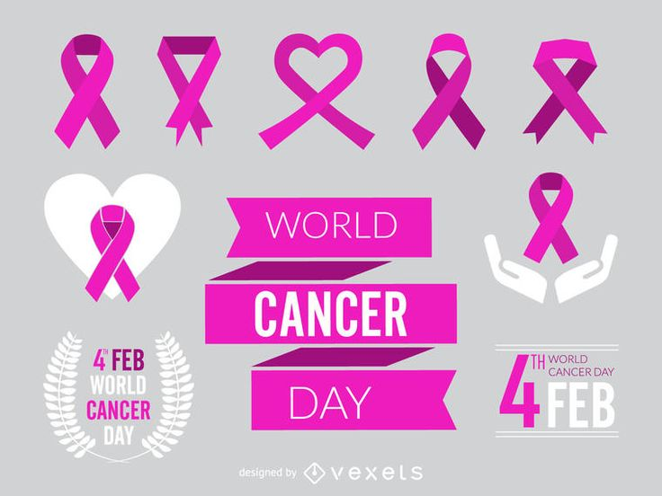 Set of World Cancer Day ribbons and elements. This collection includes lots of isolated ribbons, emblems, labels, badges and more.