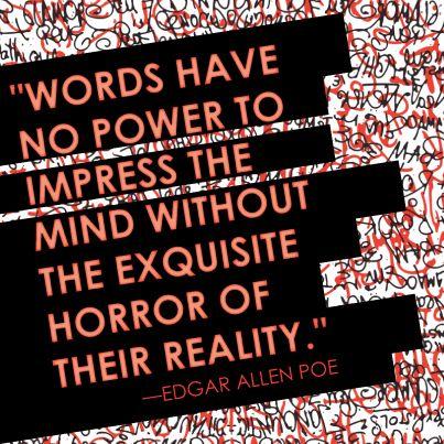 Quote by Edgar Allen Poe. Happy Halloween