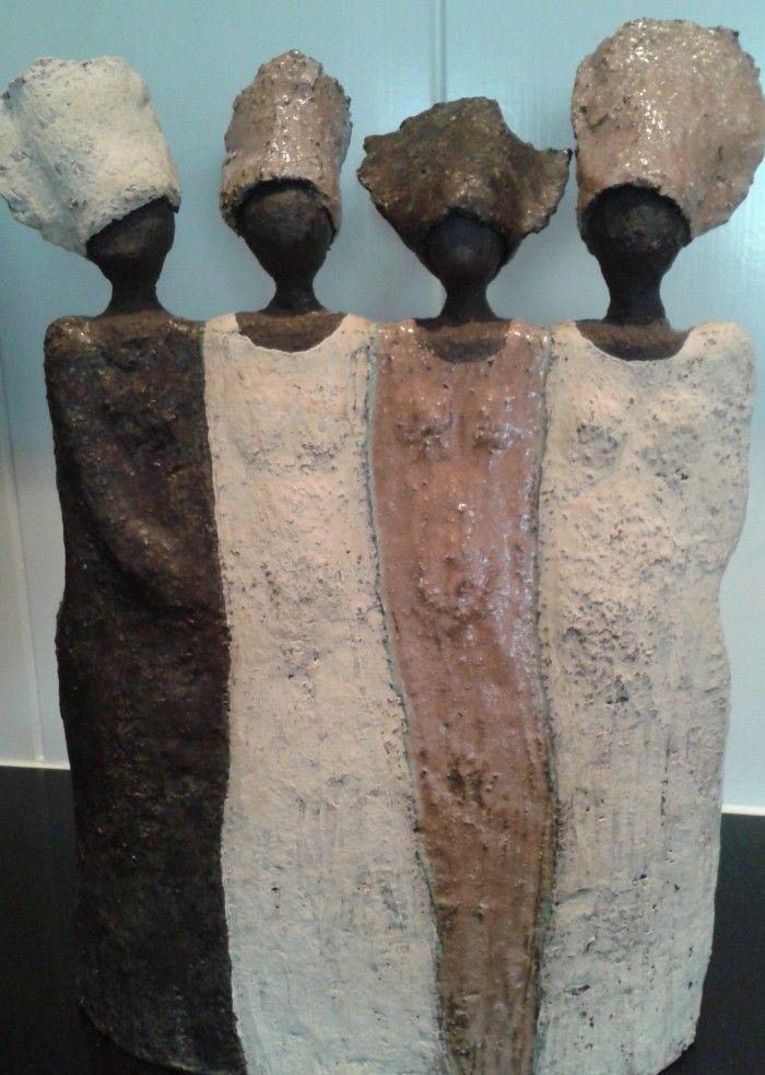 My next `Inspired' Art Skulpture  Zelfgemaakt+van+klei.