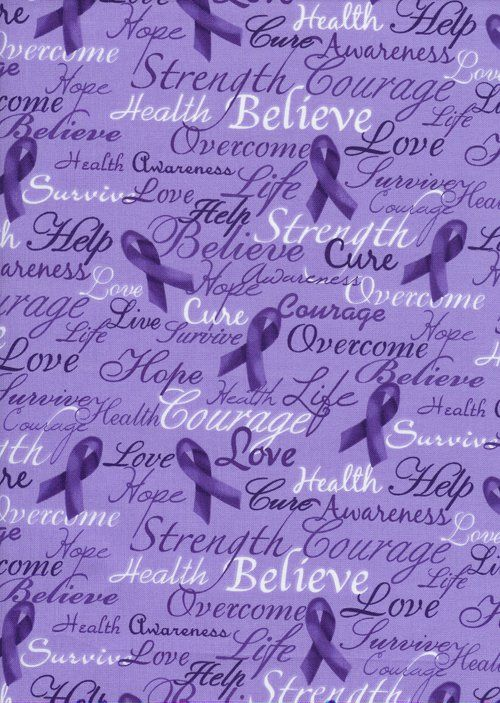 Purple ribbon-FMS.  Purple ribbons are also for pancreatic cancer.