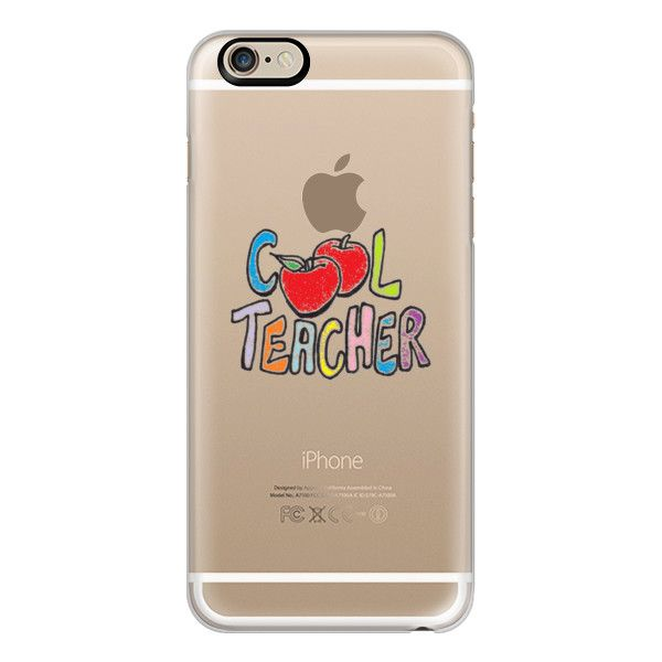 iPhone 6 Plus/6/5/5s/5c Case - COOL TEACHER 1 - Colorful Back to School Apples School Days Elementary High School Rainbow Whimsical Illustration Art Typo featuring polyvore, fashion, accessories, tech accessories, iphone case, iphone cover case, apple iphone cases, rainbow iphone case and iphone cases