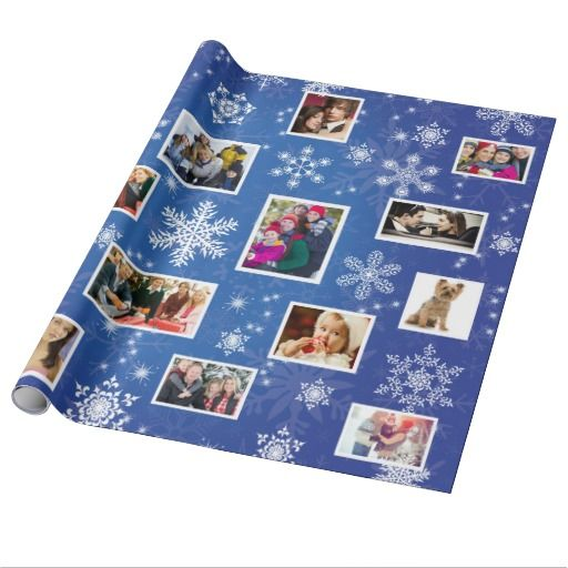 Christmas Snowflakes 15 Favorite Family Photos Wrapping Paper