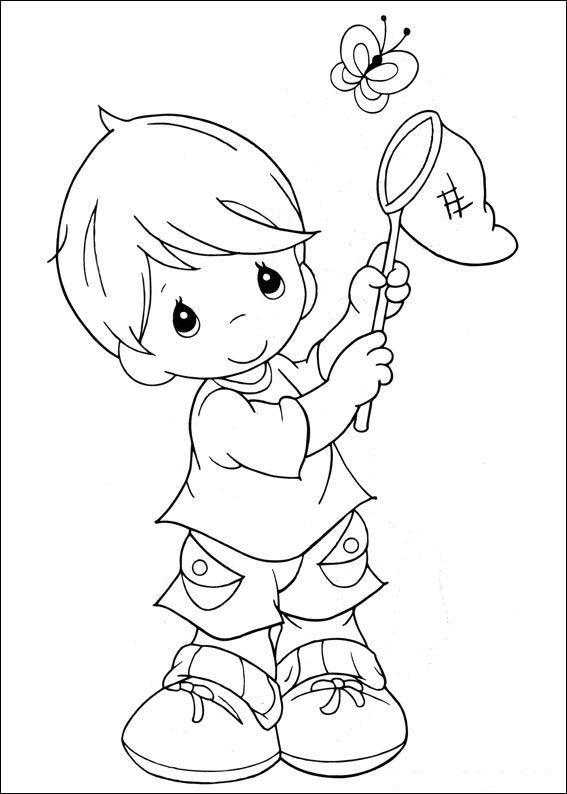 coloring page precious moments kids n fun
