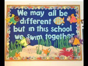 Ocean bulletin board - so cute! Use this for your beach classroom theme!