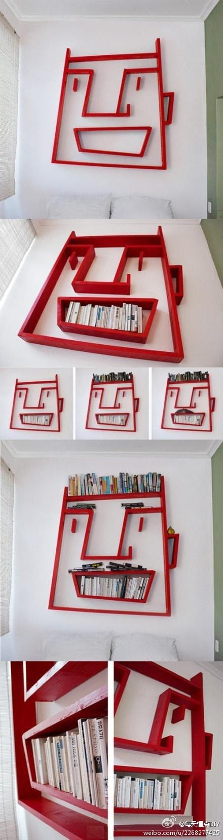 Great bookshelf for kids rooms and can be painted in any colour. Love the monster face