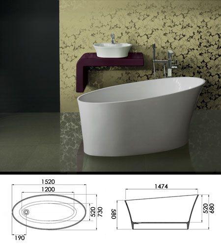 Freestanding Baths | Modern Floor Mounted Slipper Bath