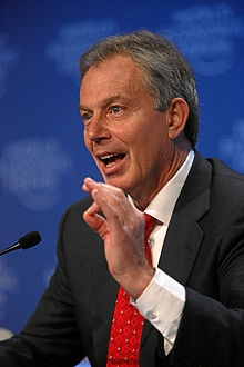 Tony Blair, talking as usual, except in Great Britain nobody listens any more. He will never be forgiven for lying to the British people.