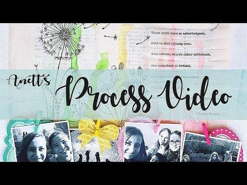 Girlfriends- Scrapbook layout process video