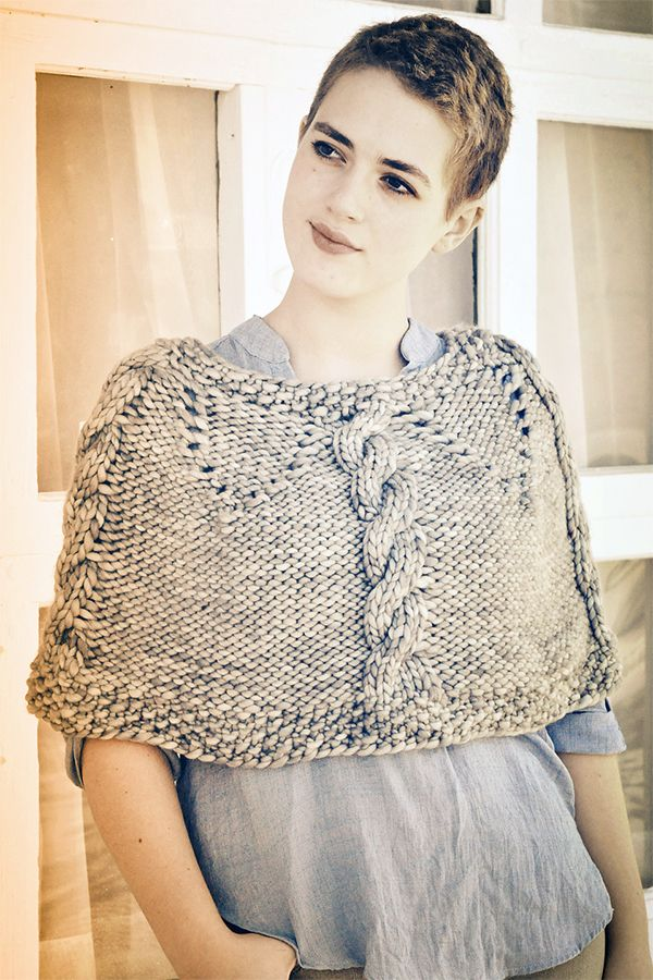 Free Knitting Pattern for The Minimalist Shoulder Cozy - Cabled ...