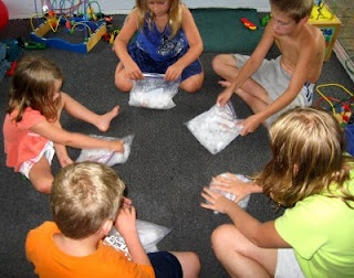 Kid project - Ice cream in a baggie