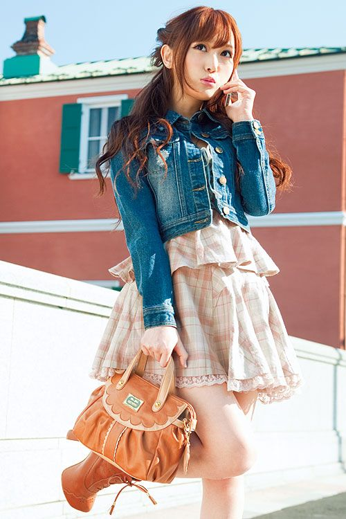 Dress, jacket and bag by Liz Lisa, an extremely popular clothing brand in Japan. -Lily