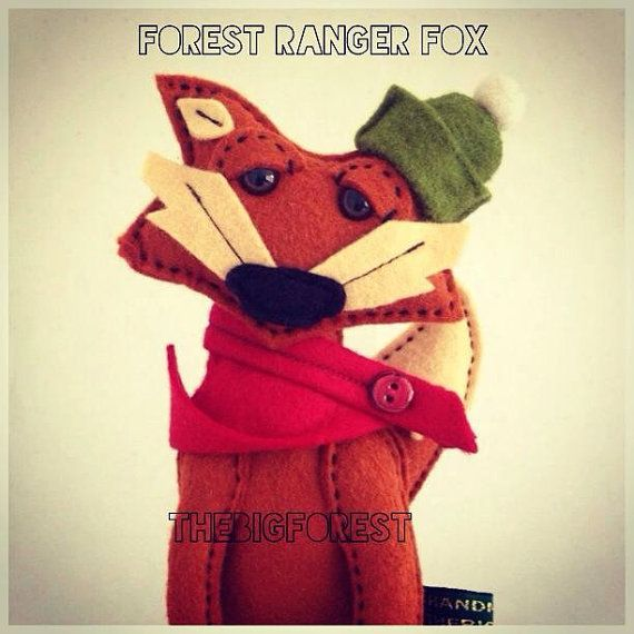 Personalised badge Heirloom Fox Handmade Felt Bear by TheBigForest, £45.00