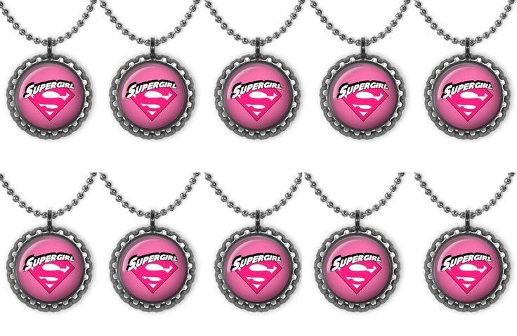 Lote de 10 rosa Supergirl Súper Héroe Fiesta Collar de Tapa de Botella favores de partido | Hogar y jardín, Tarjetas y suministros para fiestas, Suministros para fiestas | eBay!