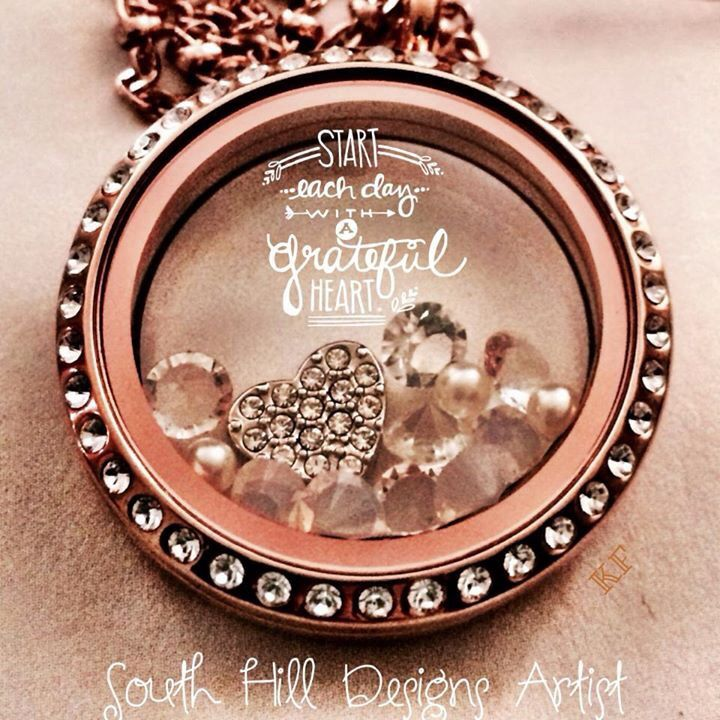 Start your day with a smile in your heart with your own South Hill Designs Locket. We have bracelets too!
