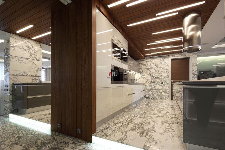 Фото интерьера кухни квартиры в стиле минимализм