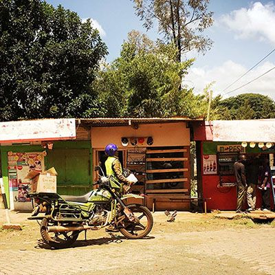 Ridgeways Nairobi: pit stop, for buying all kinds of stuff or get refreshments, built from what is available. image and text by Ilja Marcus Burchard