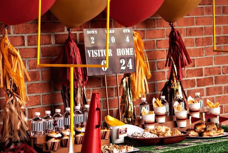 Super Bowl Party Table Decorations