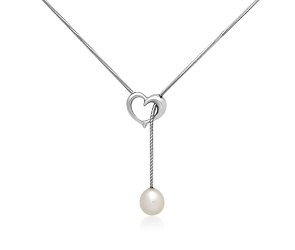 Freshwater Cultured Pearl Heart Lariat in Sterling Silver: Ideas, Pearls Heart, Bridesmaid Gifts, Sterling Silver, I'M, Silver Debellsk, Heart Lariat, Freshwater Cultured Pearl, Freshwater Culture Pearls