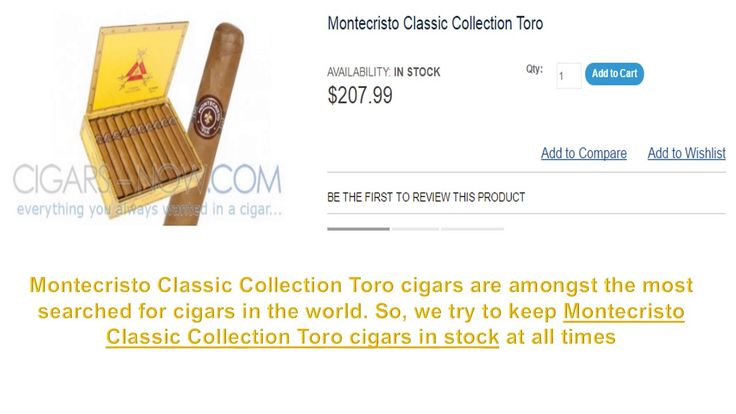 Buy Montecristo Cigars online at discount price. If you are cigars lovers than come to our website and shop here variety of cigars. Buy online today. http://www.cigars-now.com/cigars/cigar-brands/montecristo-classic