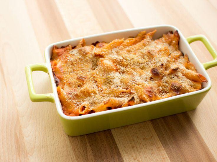 Baked Barilla® Mostaccioli with Sausage and Mushroom Sauce Recipe   Barilla