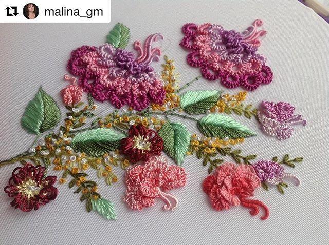 @malina_gm #broderie #bordado #embroidery #ricamo #handembroidery #needlework