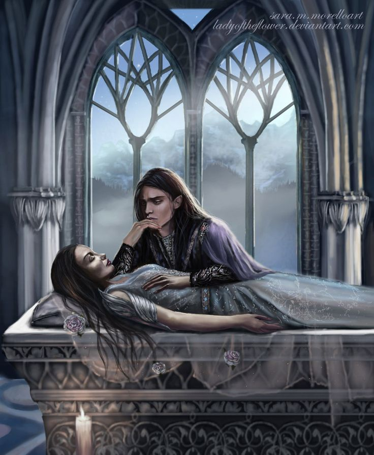 Aredhel felt into the darkness by Ladyoftheflower on DeviantArt (Aredhel and Maeglin)