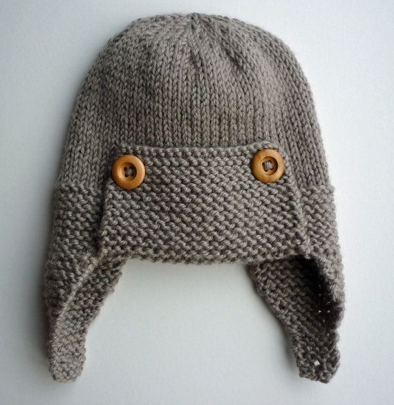 Aviator Hat Knitting Pattern Baby to Child sizes pdf by LoveFibres, $4.00
