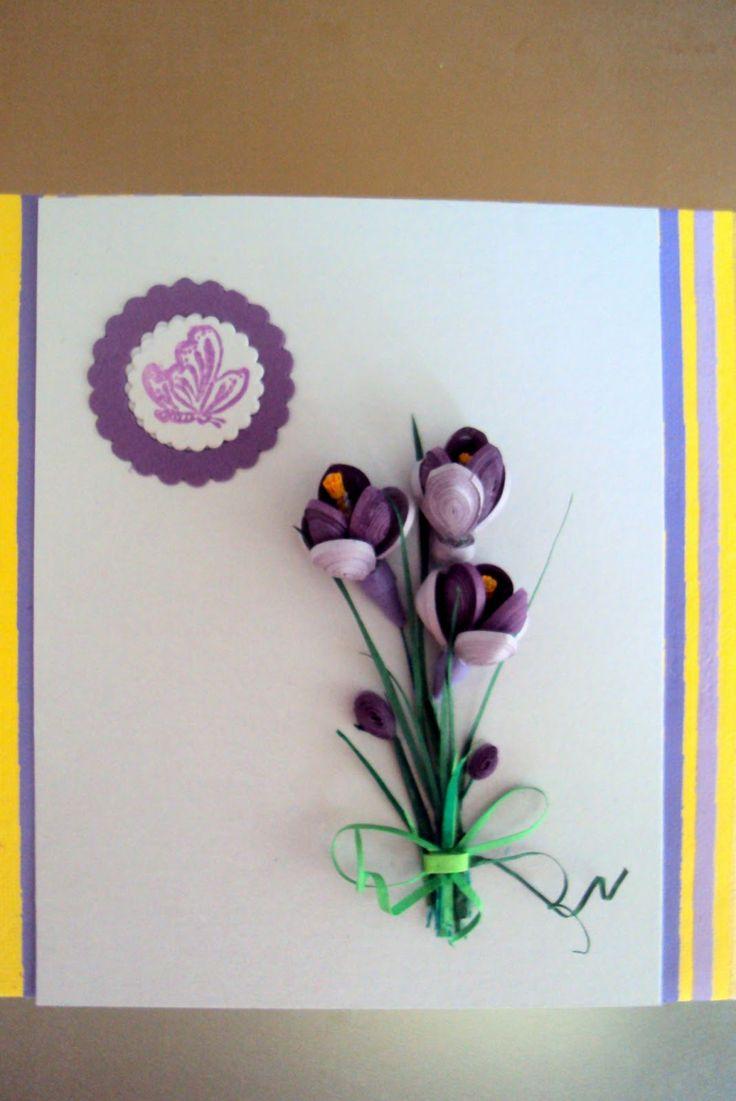 Quilled Flower Spray - www.seasonsquilling.blogspot.com