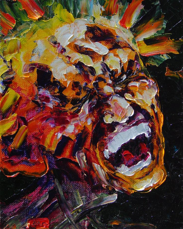 Pain (self-portrait). Oil on canvas, 50-40, 2005. (Expressive sublimatizm).