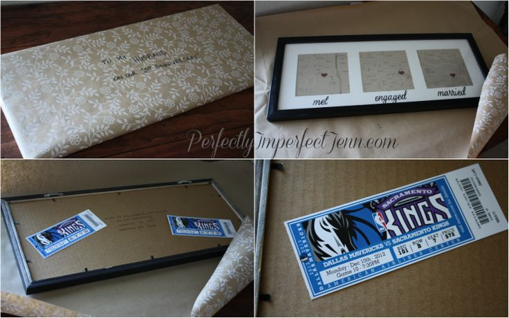 perfect 'paper' gift for your hubby on your 1st anniversary