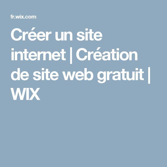 Créer un site internet | Création de site web gratuit | WIX