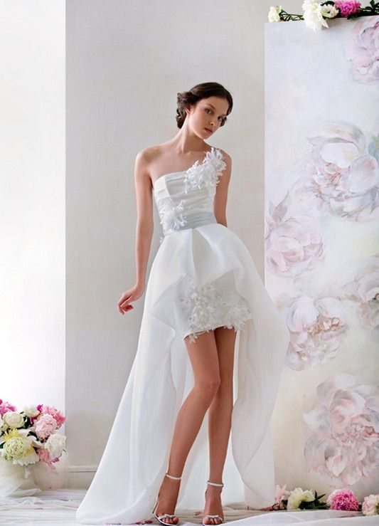 30 best images about High-Low Wedding Dresses on Pinterest | Satin ...