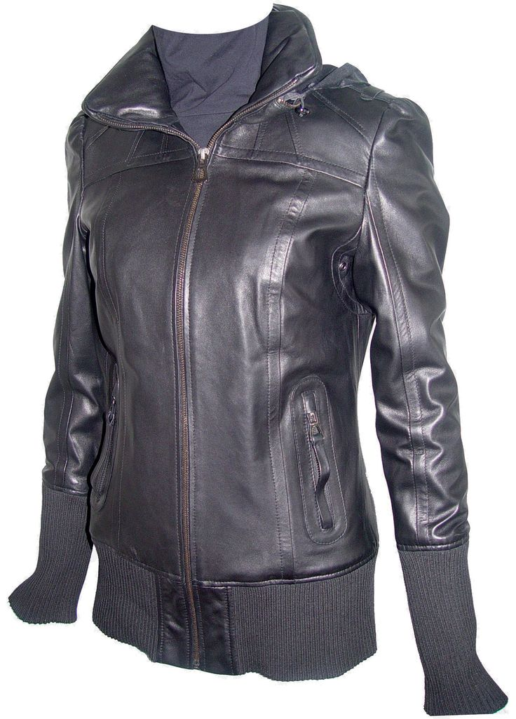 Johnny 4021 Luxury Best Cute Leather Jackets Fashion Leather Hoodie Jackets. Any size incl. custom avail. (unseen SIZES, contact us).