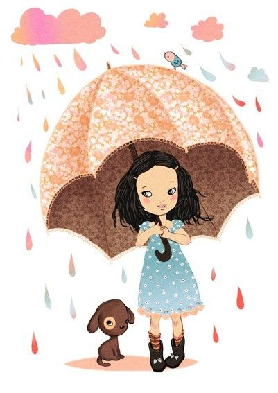 Chantons sous la pluie ~ digital art Print by matilou