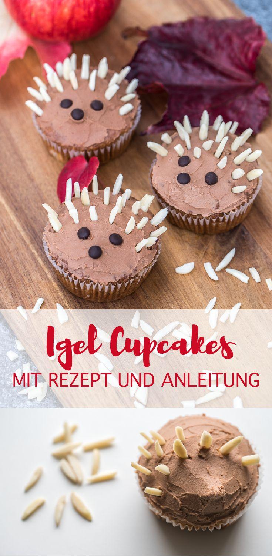 herbstliche Cupcakes mit saftigen Apfelmuffins, Walnüssen und Zimt #herbstrezept