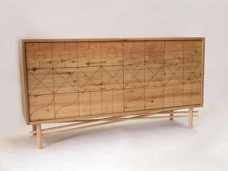 A geometric inspired cabinet from Charlie Crowther-Smith