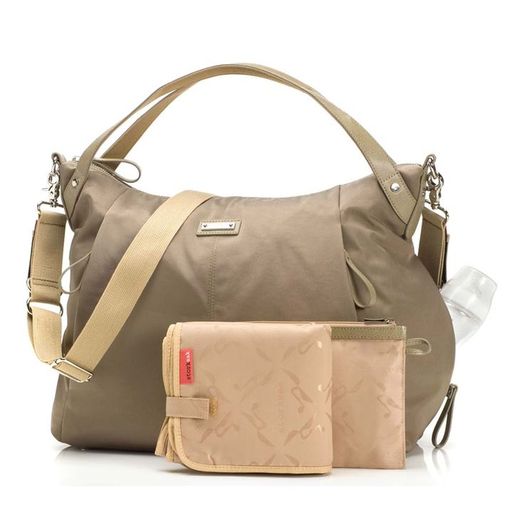 Storksak Catherine Luxe Nylon Diaper Bag - Moss   Designer Diaper Bags  www.duematernity.com Follow Due Maternity on Instagram www.instagram.com... BEST selection of Maternity clothes anywhere!