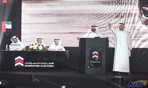 Emirates Auction: Number (2) leads bids in public