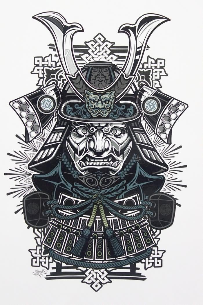 Die Besten 25 Samurai Maske Tattoo Ideen Auf Pinterest