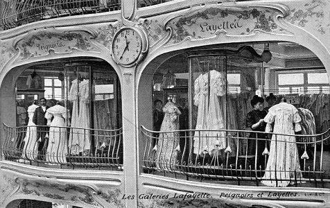 "ladylabsinthe: ""  Les Galeries Lafayette en 1900 """