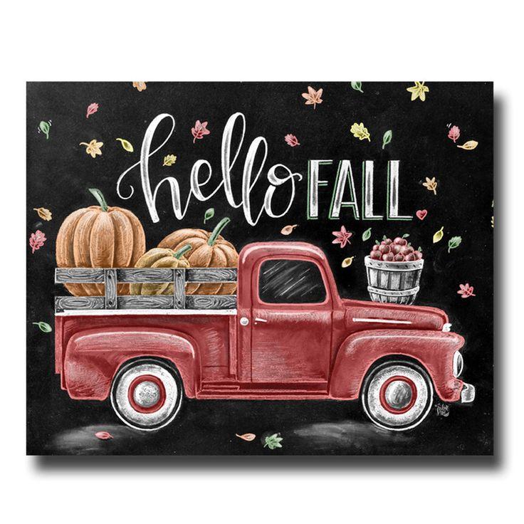 Fall Sign, Chalkboard Art, Chalk Art, Fall Decor, Hello Fall, Vintage Truck, Fall Leaves, Pumpkin Art, Apples, Fall Quote by TheWhiteLime on Etsy https://www.etsy.com/listing/468003367/fall-sign-chalkboard-art-chalk-art-fall