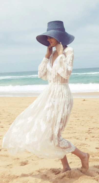 Lace beach coverup