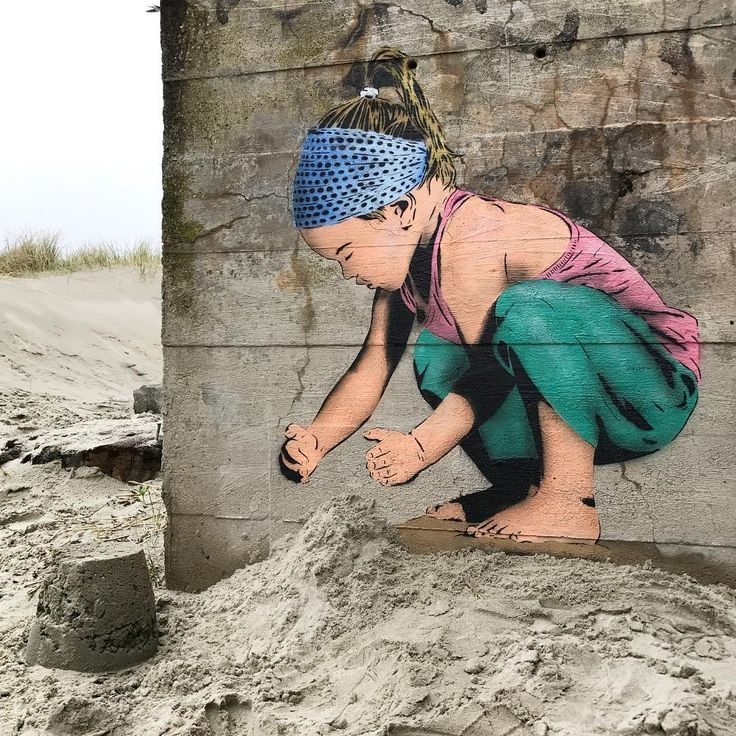 A day on the beach | Sand Castle Girl by @jps_artist & @pzy_art at #SolaBeach #Stavanger #Norway #Streetart #BeachArt #SandCastleGirl #JPSArtist #PzyArtist #StreetartStavanger #StavangerStreetart #SolaStranden #StreetartNorway