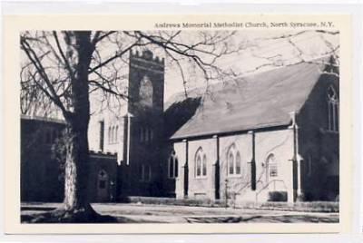 North Syracuse NY Andrews Memorial Methodist Church  - I had the biggest crush on Richard's father....Homer Gere - my Sunday School teacher